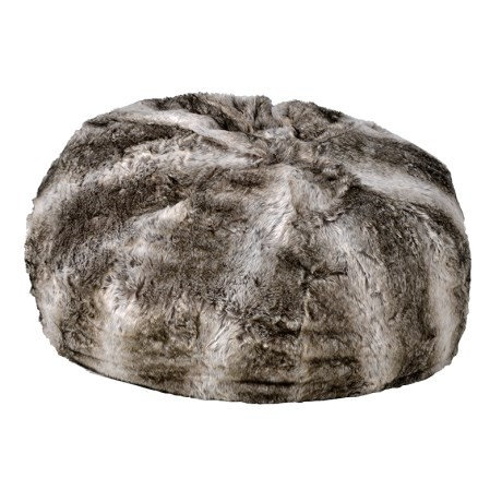 Faux Fur Beanbag With Suede Bottom