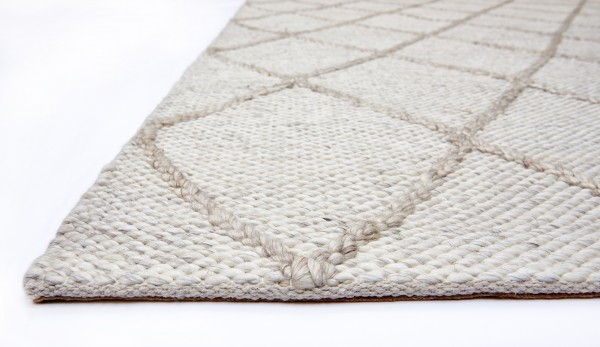 Cream Diamond Westbourne Wool Rug