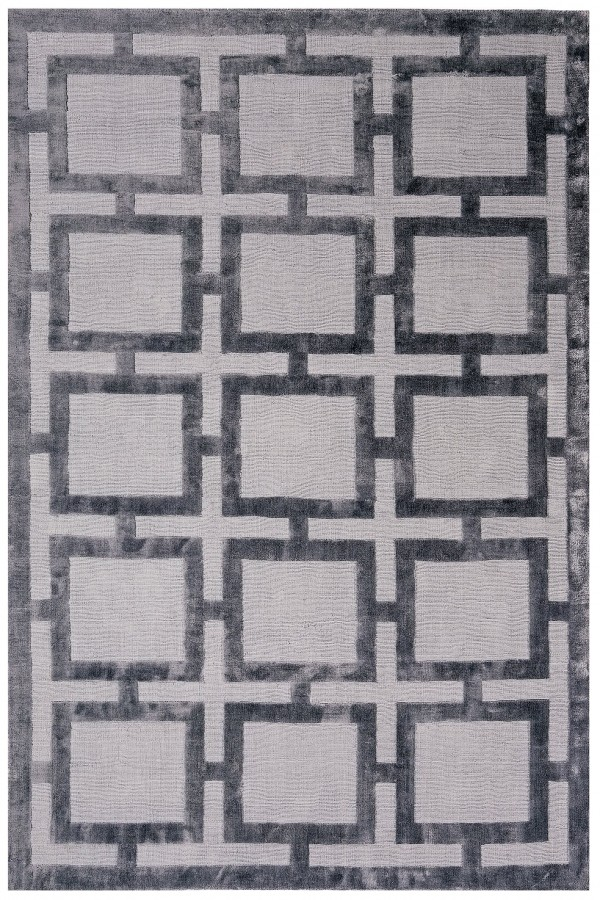 Steel Knightsbridge Geometric Rug