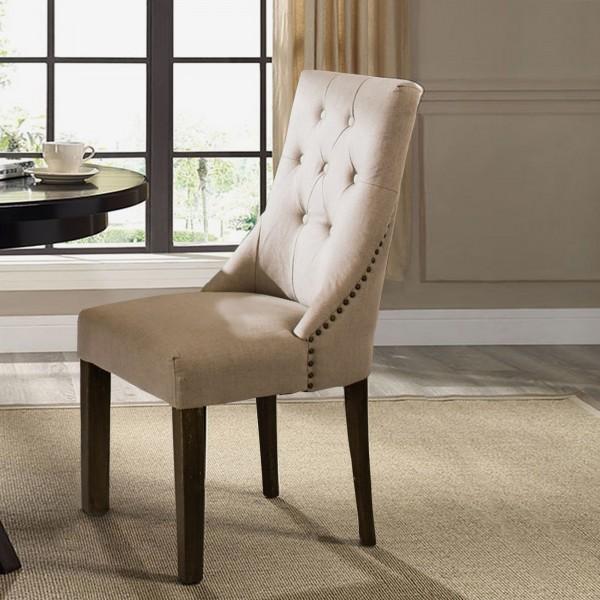 Ella Padded Light Grey Dining Chair