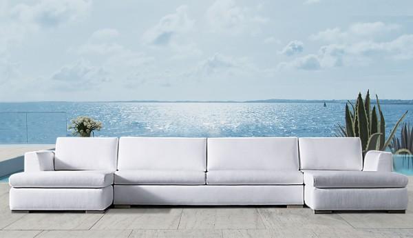Mauritius Bespoke Outdoor Twin Chaise Sofa