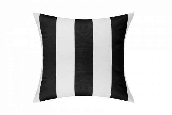 Black/White Cabana Outdoor Cushion & Pad - 50x50cm