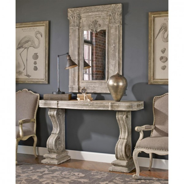 Yvelines French Country Antique Carved Console Table