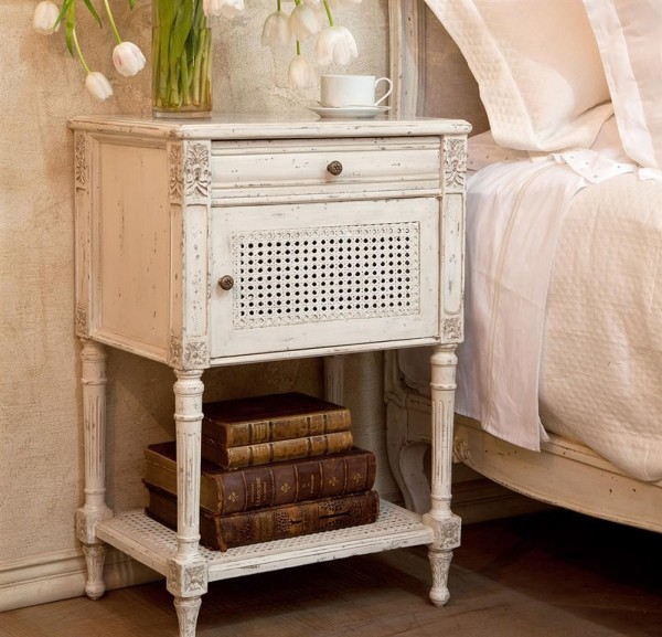Torcy Nightstand in Antique White