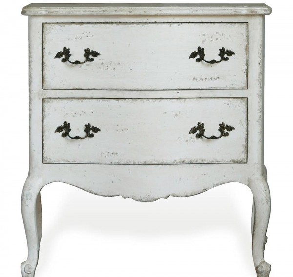 Creissant Nightstand in Antique White