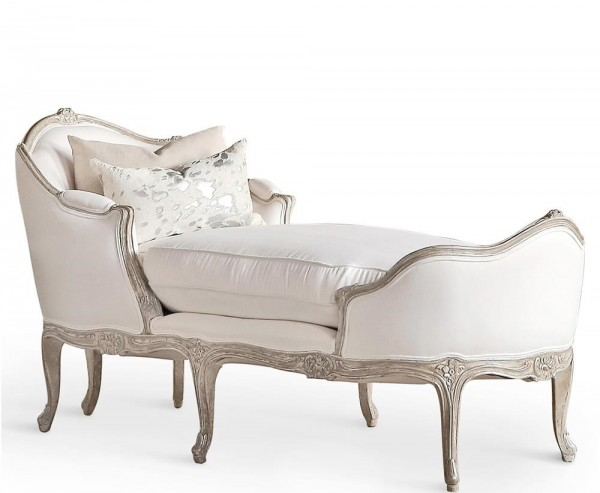 Celestine Silver Antique Chaise