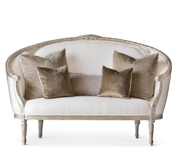 Trinetta Canape Sofa in Silver Leaf