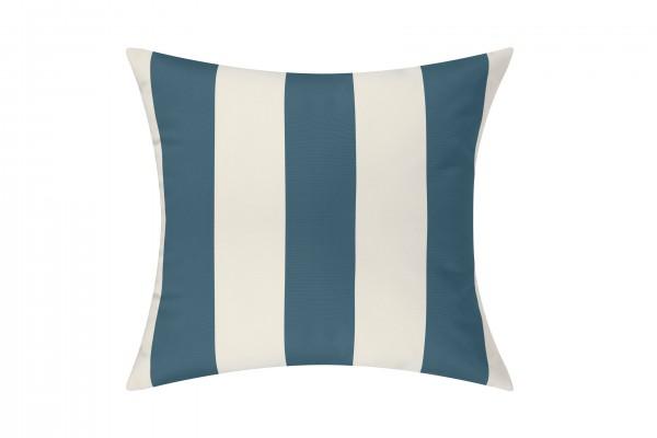 Slate Blue/White Cabana Outdoor Cushion & Pad - 50x50cm