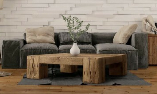 The Virginia English Beam Square Coffee Table