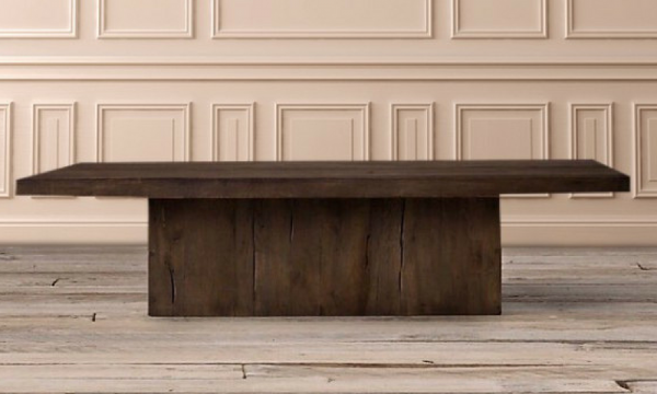 The Chichester Pine Plinth Square Coffee Table – Brown Finish