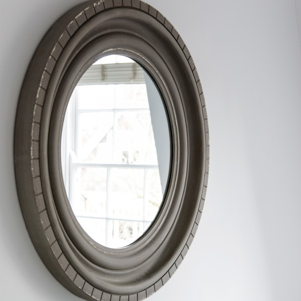 Wilton Grey Round Mirror
