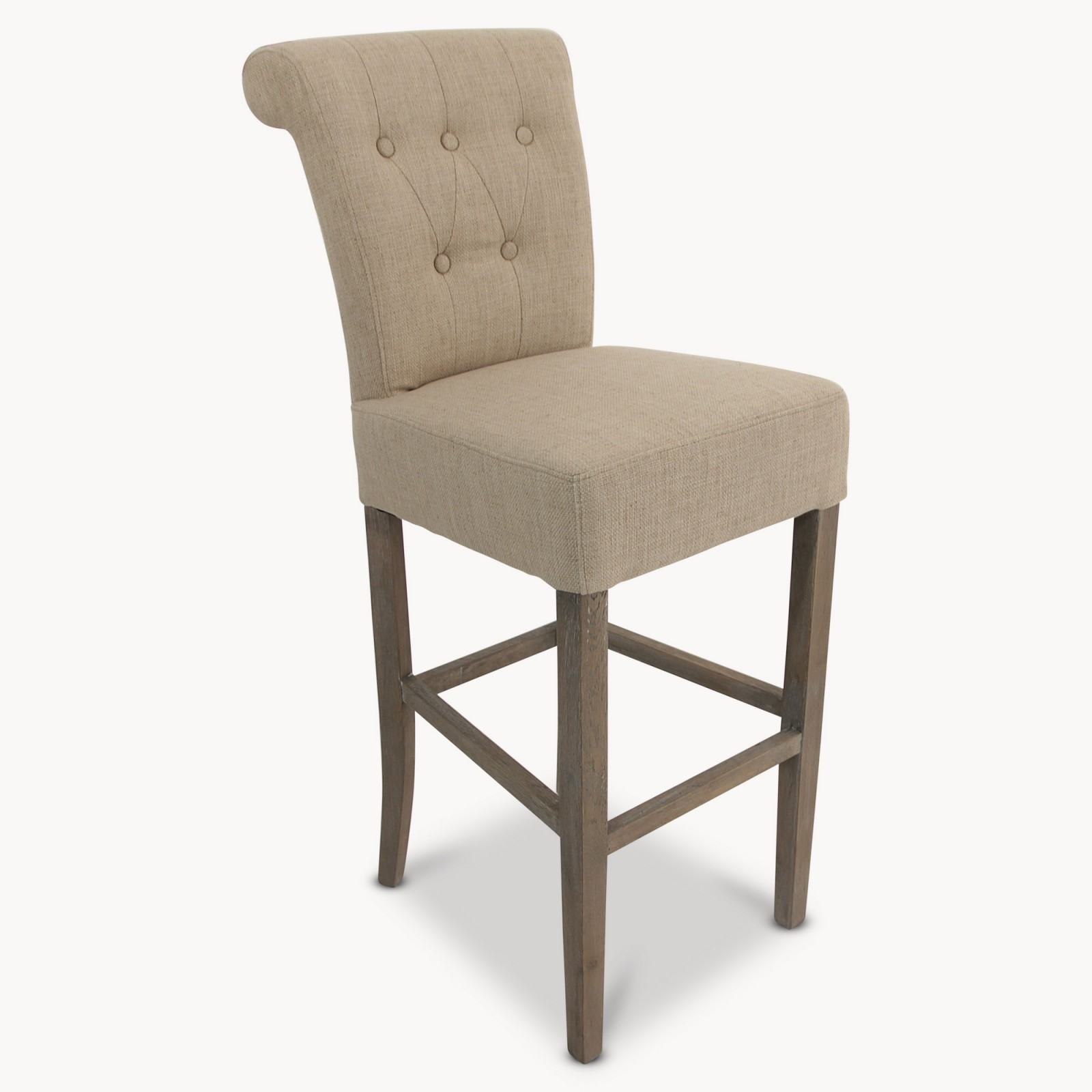 St James Beige Padded Bar Stool Hadley Rose