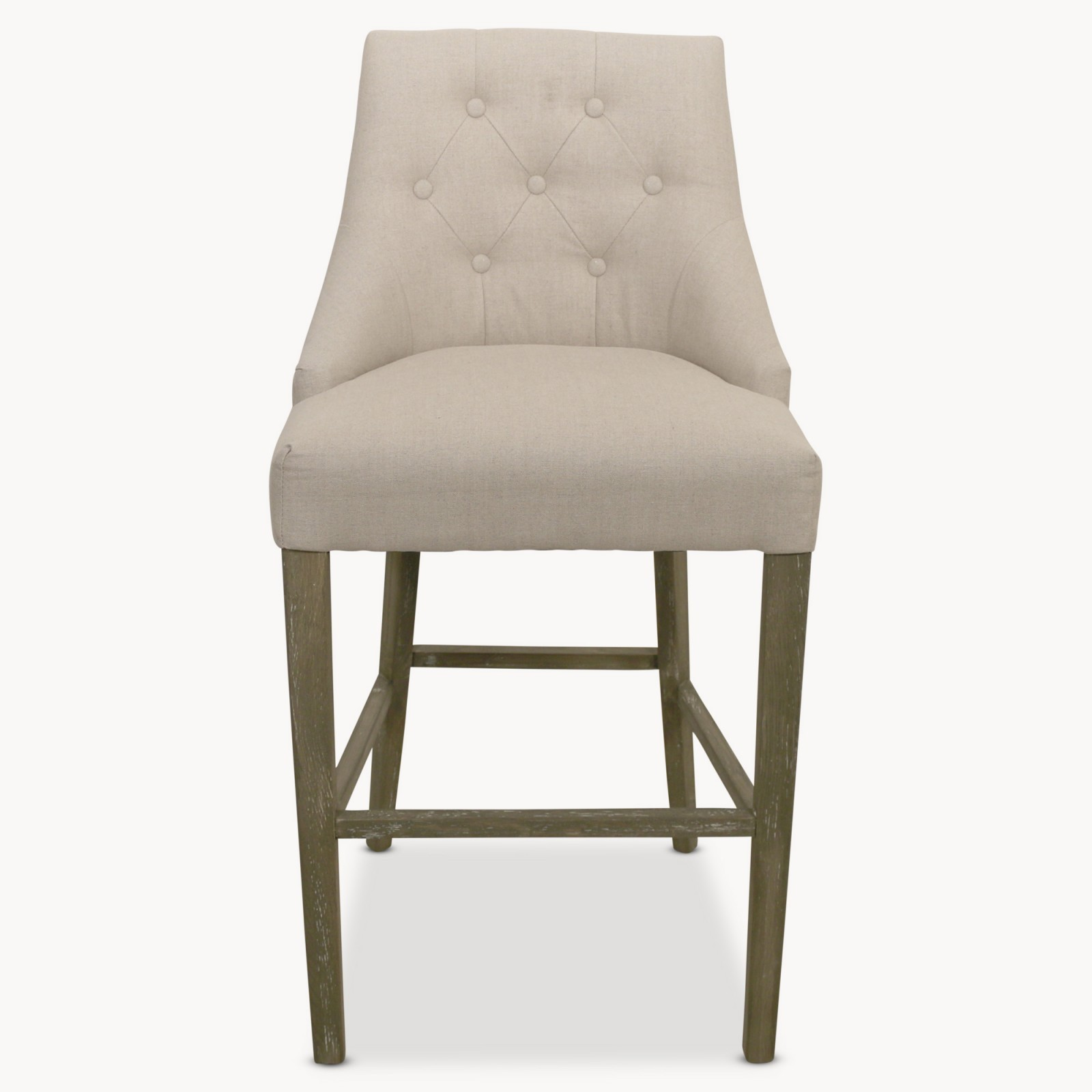 St James Natural Padded Bar Stool Hadley Rose