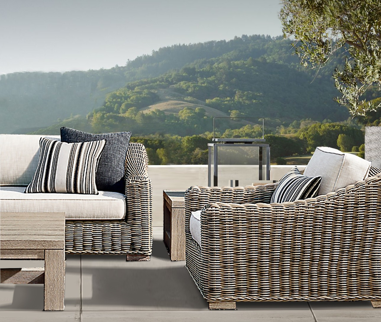 Barcelona Luxury Bespoke Outdoor Large Sofa | Hadley Rose on Bespoke Outdoor Living id=74927
