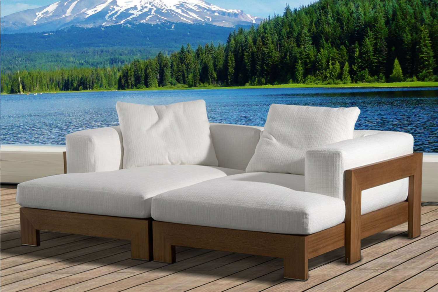 The Naxos Outdoor Daybed Hadley Rose