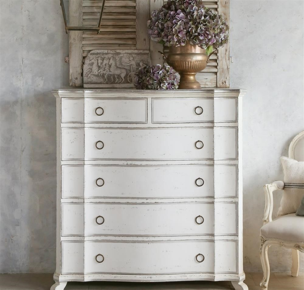 Asante French Chest In Silver And Antique White Chest Of