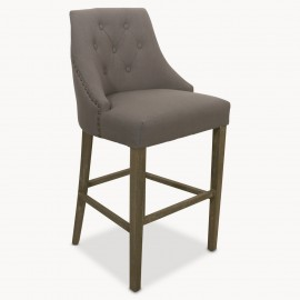 St James Padded Grey Bar Stool