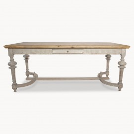 Windsor Colonial Grey Oak French Ball Leg Dining Table