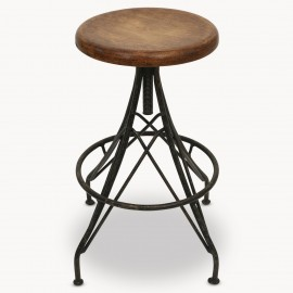 Windsor Stool With Wooden Top