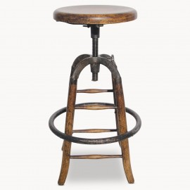 Woodcroft Wood And Metal Bar Stool