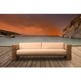 The Verbier Outdoor Bespoke 4 Seated Sofa - Natural English Oak