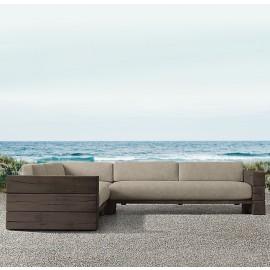The Verbier Outdoor Bespoke Corner Sofa - English Oak