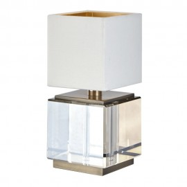 Art Deco Cognac Crystal Table Lamp