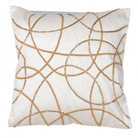 White/Beige Cushion Cover