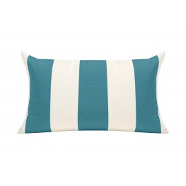 Azure/White Cabana Oudoor Cushion 50x30cm