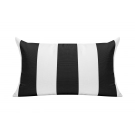 Black/White Cabana Outdoor Cushion - 50x30cm