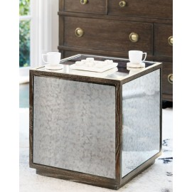 Claremont Antiqued Mirrored Side Table