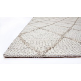 Cream Diamond Westbourne Wool Rug