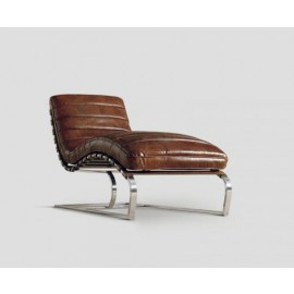 Corentin Leather Chaise Lounge