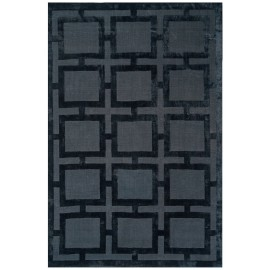 Black Knightsbridge Geometric Rug