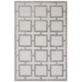 Silver Knightsbridge Geometric Rug