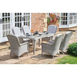 Estel Rectangular Outdoor Dining Set - 6 Seater