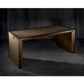 WALNUT COMPASS DESK by Coleccion Alexandra
