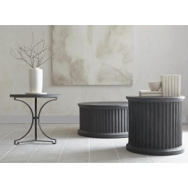Hemingway Basalt Round Side Table