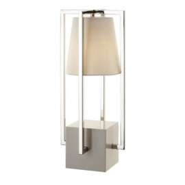 Olivio Nickel Hurricane Lamp
