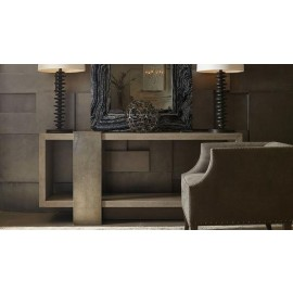 Knightsbridge Cerused Charcoal Console Table