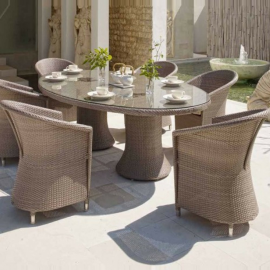 Levanzo Outdoor 6/8 Seater Oval Dining Set - Bespoke Options