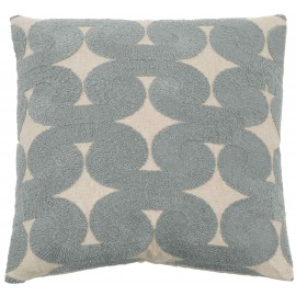 Luxe Blue Swirls Cushion