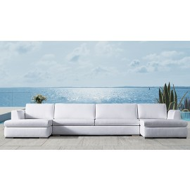 Mauritius Bespoke Outdoor Twin Chaise Sofa