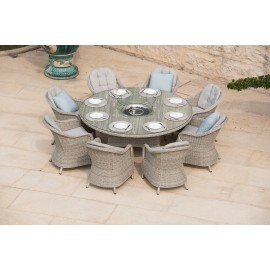 Oxford Outdoor Round Dining Table with Firepit