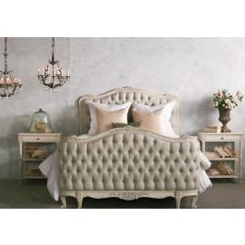 Natalya King Bed in Weathered White