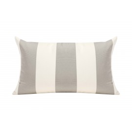 Silver Grey/White Cabana Outdoor Cushion - 50x30cm