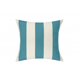 Azure/White Cabana Outdoor Cushion & Pad - 50x50cm