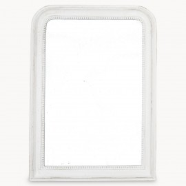 Wilton Grammercy Beaded White Mirror