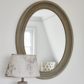 Wilton Oval Mirror with Cut Edge Design