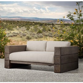 The Verbier Outdoor Three Seated Sofa - Brown - English Oak